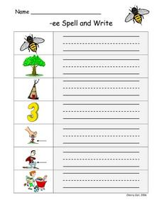 ee Spell and Write Worksheet