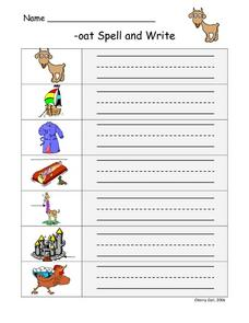 -oat Spell and Write Worksheet
