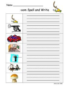 -oom Spell and Write Worksheet