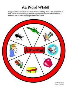Aa Word Wheel Worksheet