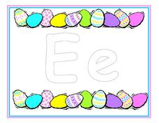 "Easter Egg ""E"" Worksheet"