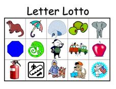 Letter Lotto Worksheet