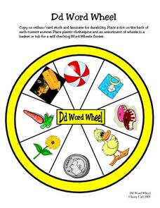 Dd Word Wheel Worksheet