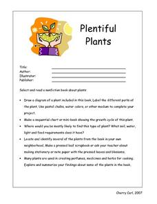 Plentiful Plants Book Review Worksheet