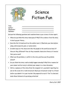 Science Fiction Fun Lesson Plan
