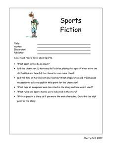 Sports Fiction Worksheet