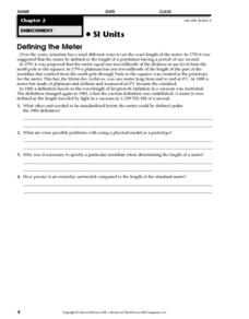 Defining the Meter Worksheet