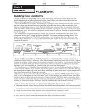 Building New Landforms Worksheet