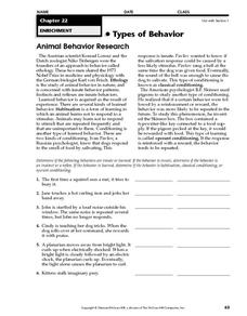 instinct learned behavior lesson plans worksheets. Black Bedroom Furniture Sets. Home Design Ideas