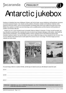 Antarctic Jukebox Worksheet