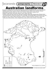 Australia Map Landforms.Australian Landforms Worksheet For 8th 12th Grade Lesson Planet