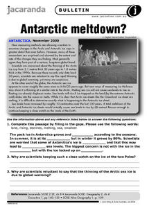 Antarctic Meltdown? Worksheet