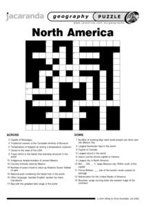 North America Puzzle Worksheet