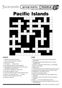 Pacific Islands Puzzle Worksheet