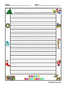 Christmas Writing Paper Lesson Plan