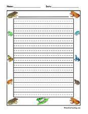 Toads and Frogs Writing Paper Lesson Plan