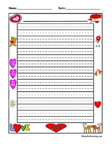 Valentine Writing Paper Lesson Plan