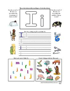 Ii- Beginning and Middle Sounds; Printing Practice Lesson Plan