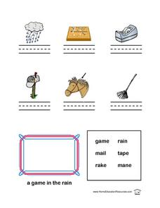 Long Vowel Sounds (a) Lesson Plan