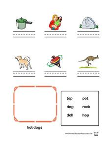 Short O Name the Picture Lesson Plan
