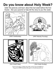 Bible-based Easter Season Packet Lesson Plan