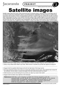 Satellite Images Worksheet