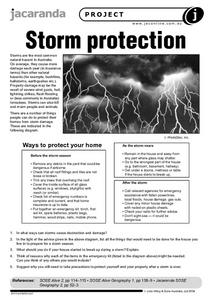 Storm Protection Worksheet