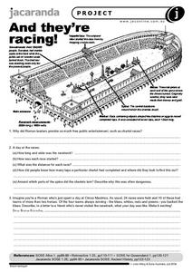 And They're Racing! Worksheet