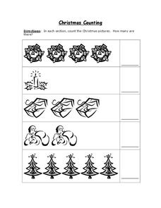 Christmas Counting Worksheet
