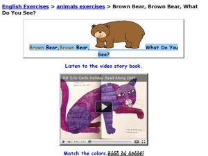 Brown Bear, Brown Bear What Do You See? Worksheet