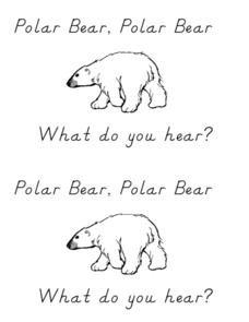Polar Bear, Polar Bear What Do You Hear? Worksheet for Kindergarten ...