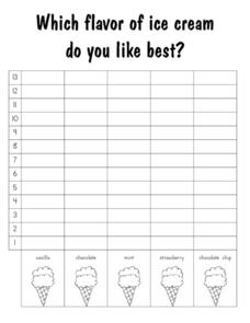 Which Flavor of Ice Cream Do You Like Best?: Graph Worksheet