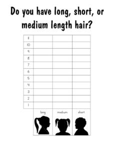 Do You Have Long, Short Or Medium Length Hair?: Graph Worksheet