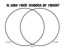 Is Your Rock Smooth Or Rough?-- Venn Diagram Worksheet