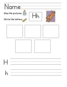 Kelly's Kindergarten: The Letter H Worksheet