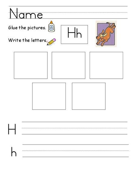 kelly 39 s kindergarten the letter h worksheet for kindergarten 1st grade lesson planet. Black Bedroom Furniture Sets. Home Design Ideas