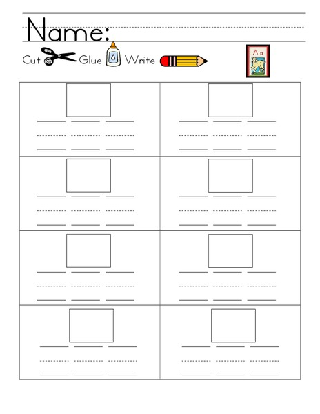 Kelly's Kindergarten: A Words Worksheet