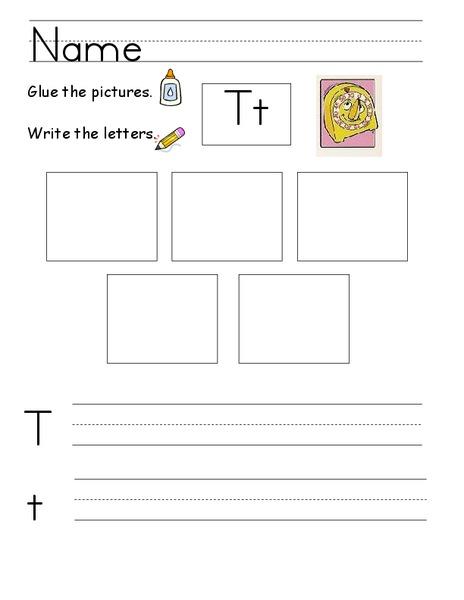 Kelly's Kindergarten The Letter T Worksheet for ...