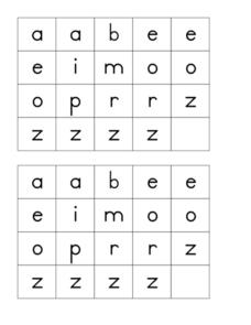 Alphabet Squares Worksheet