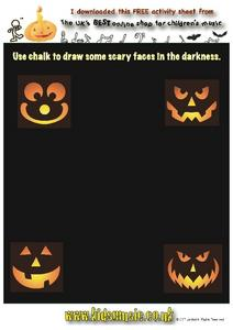 Drawing Scary Faces Worksheet