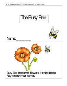 The Busy Bee-- Full Color Copy Printables & Template