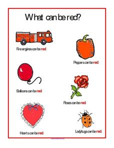 What Can Be Red? Worksheet