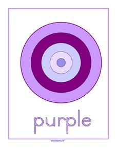Purple Color Shade Matching Worksheet