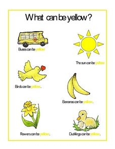 What Can Be Yellow? Worksheet