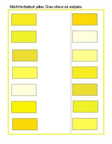Match the Shades of Yellow Worksheet
