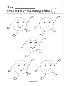 Trace the Dancing Circles Worksheet