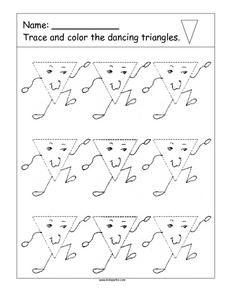 Trace the Dancing Triangles Worksheet