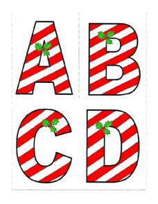 Candy Cane Alphabet Lesson Plan