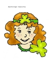 Mask/Stick Puppet: Shamrock Fairy Worksheet