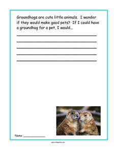 Groundhogs Story Starter Worksheet